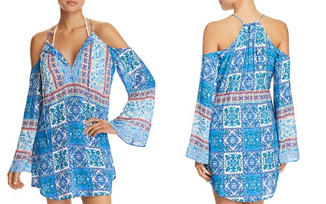 Nanette Lepore Ensenada Tile Tunic Swim Cover-Up - 100% Exclusive - Bloomingdale's_2