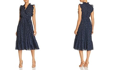 kate spade new york Sleeveless Floral-Trim Faux-Wrap Dress - Bloomingdale's_2