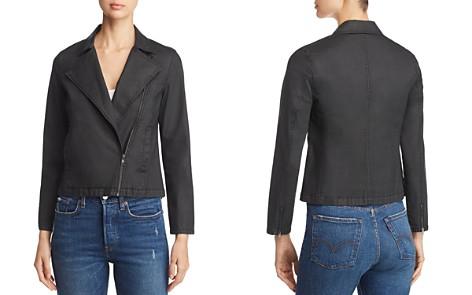 Eileen Fisher Petites Cropped Moto Jacket - Bloomingdale's_2