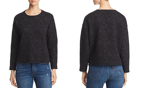 Eileen Fisher Textured Mélange-Stitched Top - Bloomingdale's_2