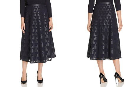 Lafayette 148 New York Adriel Laser-Cut Faux Leather Midi Skirt - Bloomingdale's_2