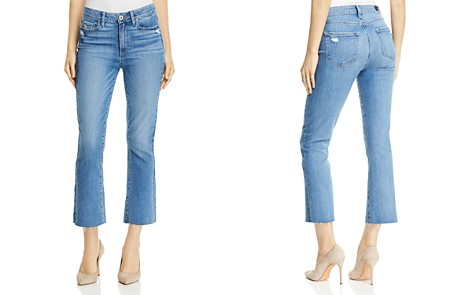 PAIGE Colette Crop Flare Jeans in Tamsen - 100% Exclusive - Bloomingdale's_2