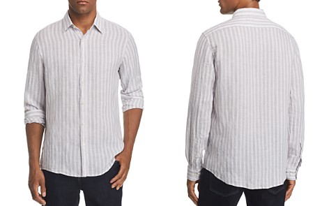 Michael Kors Slim Fit Striped Linen Button-Down Shirt - 100% Exclusive - Bloomingdale's_2