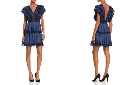 Alice + Olivia Lanora Pleated Tiered V-Back Dress - Bloomingdale's_2