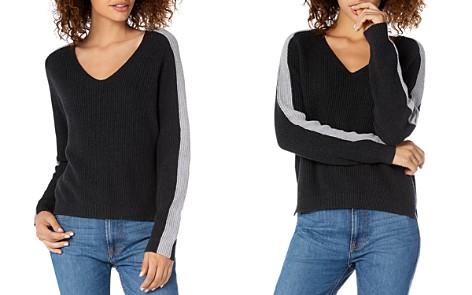 Michael Stars V-Neck Color-Block Sweater - Bloomingdale's_2
