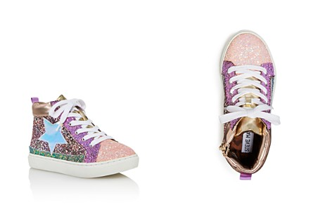 STEVE MADDEN Girls' Glitter Star High Top Sneakers - Little Kid, Big Kid - Bloomingdale's_2