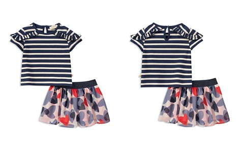 kate spade new york Girls' Striped Tee & Confetti Hearts Chiffon Skirt Set - Baby - Bloomingdale's_2