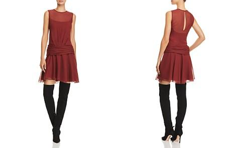 Theory Printed-Silk Mini Dress - Bloomingdale's_2