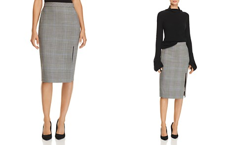 Theory Plaid Pencil Skirt - Bloomingdale's_2