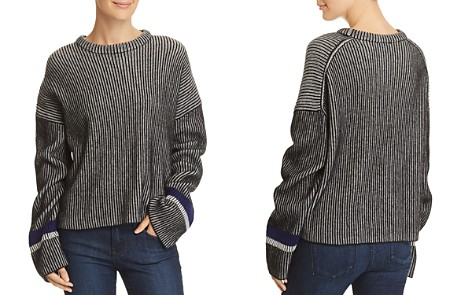 Theory Mix Stripe Cashmere Sweater - Bloomingdale's_2