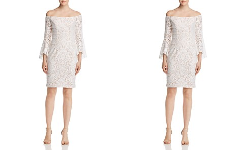 Avery G Off-the-Shoulder Lace Dress - Bloomingdale's_2