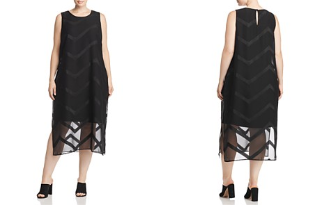 VINCE CAMUTO Plus Layered Chevron Midi Dress - Bloomingdale's_2