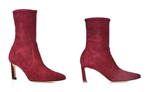 Stuart Weitzman Rapture Mid Calf Stretch Suede Booties - Bloomingdale's_2