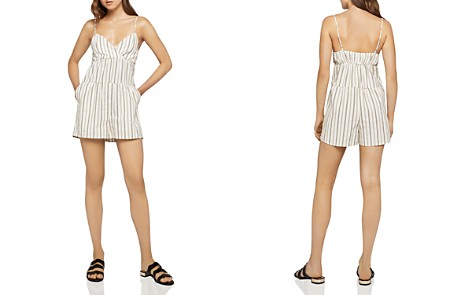 BCBGeneration Tiered Striped Romper - Bloomingdale's_2