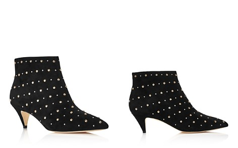 kate spade new york Women's Starr Pointed Toe Two-Tone Studded Suede Kitten Heel Booties - Bloomingdale's_2