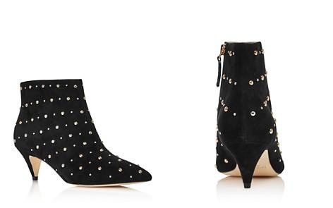 kate spade new york Women's Starr Pointed Toe Two-Tone Studded Suede Kitten Heel Booties - Bloomingdale's_2