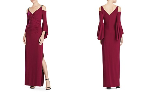 Lauren Ralph Lauren Embellished Cold-Shoulder Gown - Bloomingdale's_2