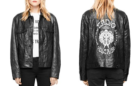 Zadig & Voltaire Kase Leather Jacket - Bloomingdale's_2