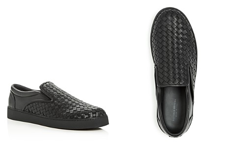 Bottega Veneta Men's Woven Leather Slip-On Sneakers - Bloomingdale's_2