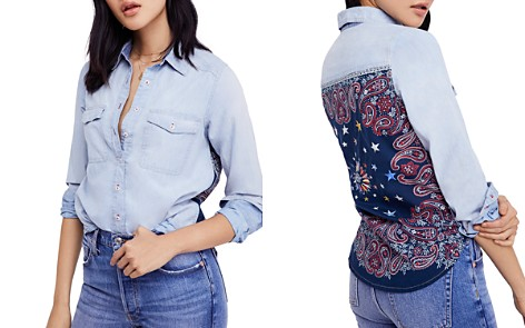 Free People Bandana Bandit Chambray Shirt - Bloomingdale's_2