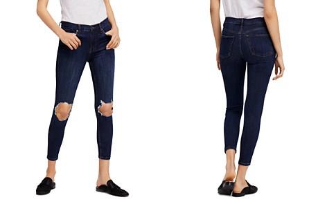 Free People Busted Skinny Jeans in Dark Blue - Bloomingdale's_2