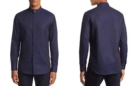 Emporio Armani Striped Diamond-Print Regular Fit Sport Shirt - Bloomingdale's_2