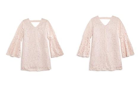 AQUA Girls' Bell-Sleeve Lace Shift Dress, Big Kid - 100% Exclusive - Bloomingdale's_2