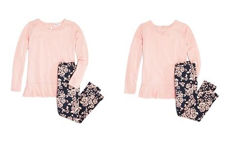 Splendid Girls' Ruffled Tee & Floral Leggings Set - Little Kid - Bloomingdale's_2