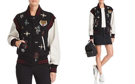 Joie Asuna Leather-Sleeve Embellished Bomber Jacket - Bloomingdale's_2