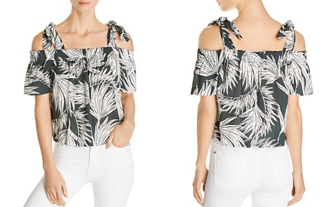 1.STATE Printed Cold-Shoulder Blouse - Bloomingdale's_2