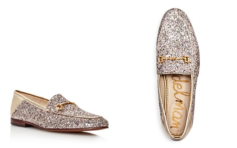 Sam Edelman Women's Loraine Glitter & Gold Leather Loafers - Bloomingdale's_2
