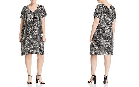 Eileen Fisher Plus Printed Silk Drawstring Dress - Bloomingdale's_2