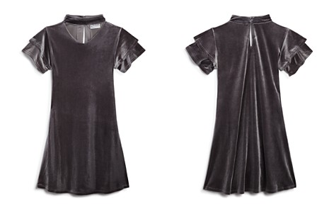 US Angels Girls' Velvet Choker Dress - Big Kid - Bloomingdale's_2