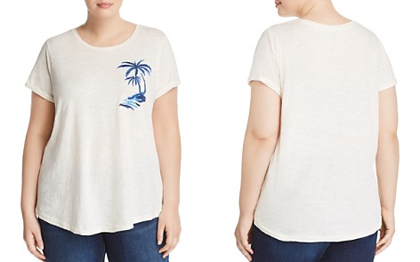Lucky Brand Plus Embroidered Palm Tree Tee - Bloomingdale's_2