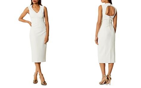 KAREN MILLEN Ruched Cutout Midi Dress - Bloomingdale's_2