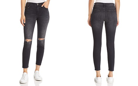 Current/Elliott The Stiletto Distressed Cropped Skinny Jeans in 2 Year Destroy Stretch Black - Bloomingdale's_2