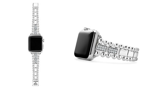 LAGOS Sterling Silver Smart Caviar Diamond Four-Bar Apple™ Smartwatch Strap - 100% Exclusive - Bloomingdale's_2