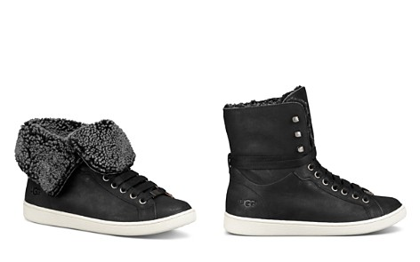 UGG® Women's Starlyn Round Toe Lace Up Leather High-Top Sneakers - Bloomingdale's_2