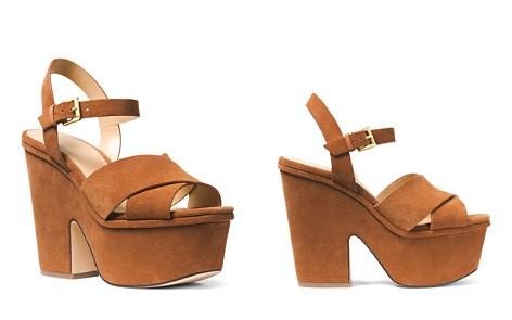 MICHAEL Michael Kors Women's Divia Open-Toe Platform Suede Wedge Heel Sandals - Bloomingdale's_2