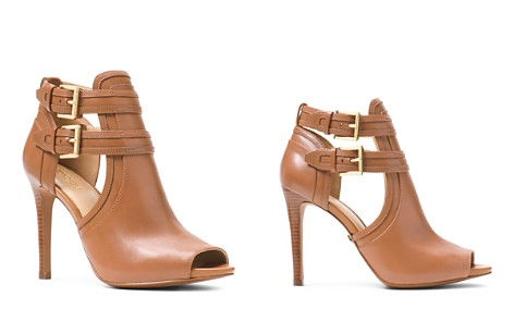 MICHAEL Michael Kors Women's Blaze Open-Toe Leather High-Heel Booties - Bloomingdale's_2