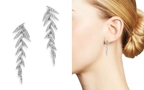 Bloomingdale's Diamond Feather Drop Earrings in 14K White Gold, 0.55 ct. t.w. - 100% Exclusive_2