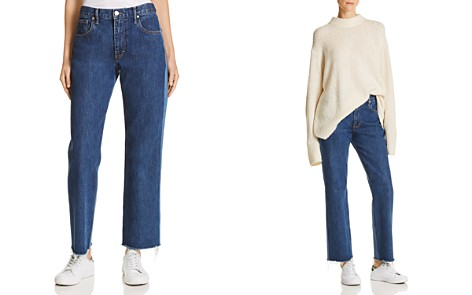 Elizabeth and James Holden Wide Leg Jeans in Medium Denim - Bloomingdale's_2