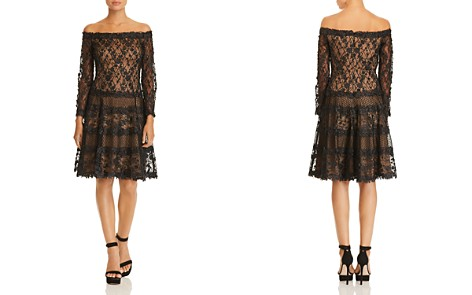 Tadashi Shoji Floral Embellished Off-the-Shoulder Dress - Bloomingdale's_2