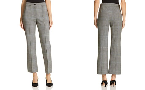 Theory Cardinal Plaid Cropped Pants - Bloomingdale's_2