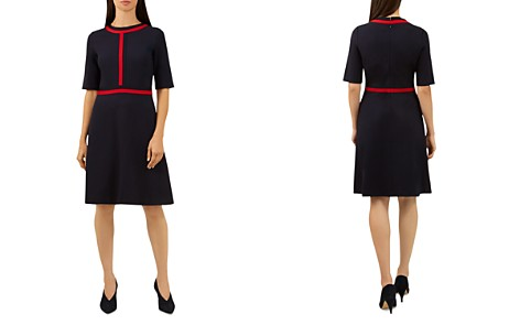 HOBBS LONDON Delia Striped-Trim Dress - Bloomingdale's_2