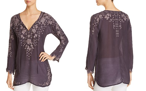 Johnny Was Butterfly Embroidered Tunic Top - Bloomingdale's_2