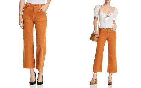 J Brand Joan High Rise Crop Wide Leg Corduroy Jeans in Titian - Bloomingdale's_2