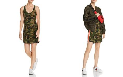 PAM & GELA Striped-Trim Camo Tank Dress - Bloomingdale's_2