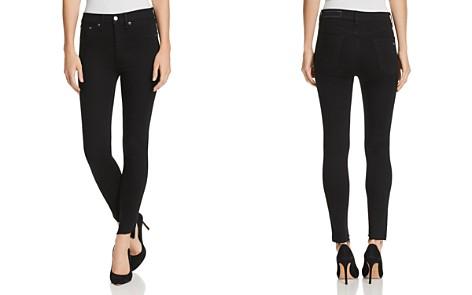 rag & bone/JEAN High-Rise Step-Hem Ankle Skinny Jeans in Black Commodore - Bloomingdale's_2