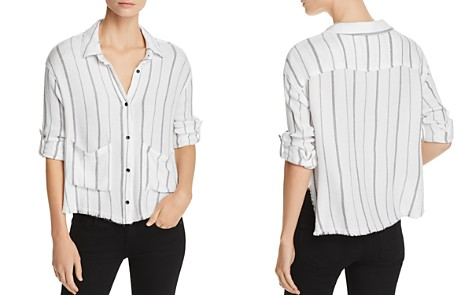 Bella Dahl Frayed Striped Shirt - Bloomingdale's_2
